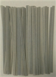 "4"" Gray Paper Twist Ties - 100 Pack"
