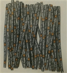 "4"" Halloween Paper Twist Ties 100 Pack treat bags"