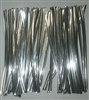 "4"" Silver Metallic Twist Ties - 50 Pack"
