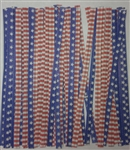 "4"" Stars & Stripes Paper Twist Ties - 50 Pack"