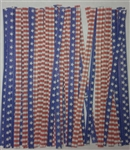 "4"" Stars & Stripes Paper Twist Ties - 100 Pack"