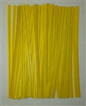 "4"" Yellow Paper Twist Ties - 50 Pack"