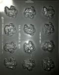 Variety Ghosts Chocolate Mold