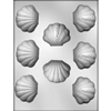 "1-1/4"" Clam Shell chocolate Mold nautical beach ocean"