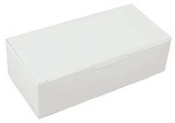 One Pound White Candy Boxes