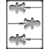 Gingerbread Boy Sucker Hard Candy Mold