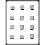 "1"" Square X on Top Hard Candy Mold"
