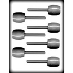 "2-5/8"" Barrel Sucker Hard Candy Mold"