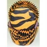 Orange Zebra Stripe Cupcake Liners safari zoo children