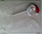 Crescent Moon Santa Sucker Chocolate Mold - CCC075