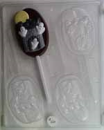 Ghosts In Tower Sucker Chocolate Mold - CCH024