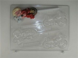 Baby on Hobby Horse Sucker Chocolate Candy Mold