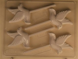 Dove in Flight Sucker Chocolate Mold animal bird wedding