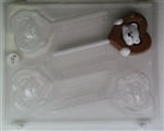 Bear in Heart Sucker Chocolate Mold valentine anniversary lollipop