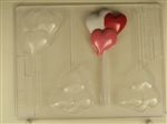 Heart Balloon Sucker Chocolate Mold V184 valentine get well birthday anniversary mothers day fathers