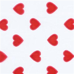 Medium Red Hearts Cello Bag Candy Wrappers