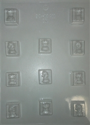 "1"" Rooks and Knights Chess Pieces Chocolate Mold 90-13411 sports checkers"