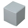 Small Silver Lustre Truffle Box- 5 Pack