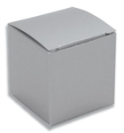 Medium Silver Lustre Truffle Box- 5 Pack