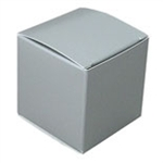 Large Silver Lustre Truffle Box- 5 Pack