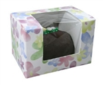 Half Pound Watercolor Daisy Window Candy Boxes