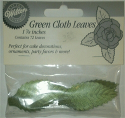 "1-7/8"" Green Cloth Leaves - 72 Leaves"
