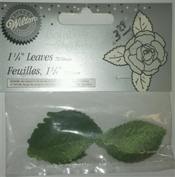 "1-1/4"" Green Cloth Leaves - 72 Pieces"