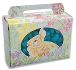 Half Pound Bunnies & Flowers Candy Box Tote - 5 Pack