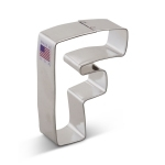 "3"" Letter F Cookie Cutter"