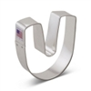 "3"" Letter U Cookie Cutter"