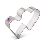 "3-3/4"" Double Hearts Cookie Cutter"