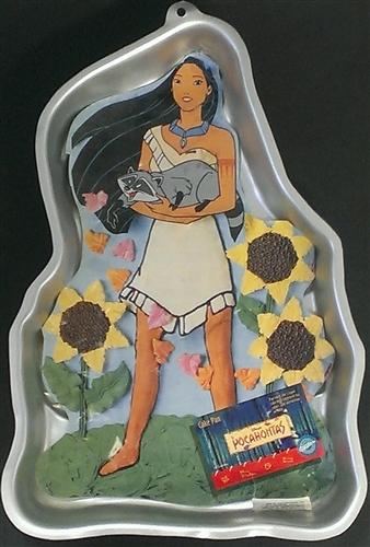 Pocahontas Character Cake Pan Vintage Wilton Cake Pan