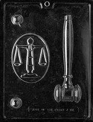 Legal Kit Chocolate Mold J088 lawyer judge gavel