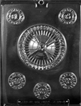 Casino Kit Chocolate Mold A sports poker night gambling roulette poker chips vegas J101