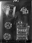 Casino Kit Chocolate Mold B gamble slot machine J101 vegas