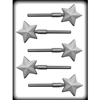 "2"" Faceted Star Sucker Hard Candy Mold gift lolly lollipop homemade christmas holiday 8h-4253 winter"