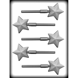 "2"" Faceted Star Sucker Hard Candy Mold gift lolly lollipop homemade"