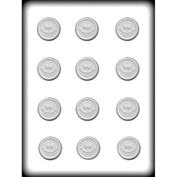 "1-1/4"" Smiley Mint Hard Candy Mold"