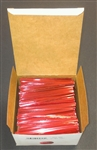 "4"" Red Metallic Twist Ties - 2,000 Pack"