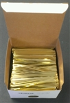 "4"" Gold Metallic Twist Ties - 2,000 Pack"