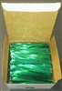 "4"" Green Metallic Twist Ties 