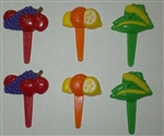 Fruit and Veggies Cupcake Picks