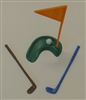 Golf Set Table Decoration