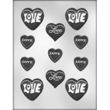 Hearts with Love Assortment Mold