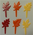 Autumn Leaves Cupcake Picks