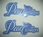 Peace on Earth Cake Topper
