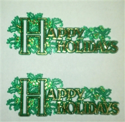 Happy Holidays Cake Topper