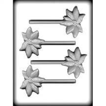 "3"" Poinsettia Sucker Hard Candy Mold"