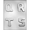 "2-3/4"" Letters Q-R-S-T Chocolate candy Mold"