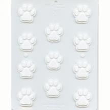 Dog Paw Print Hard Candy Mold